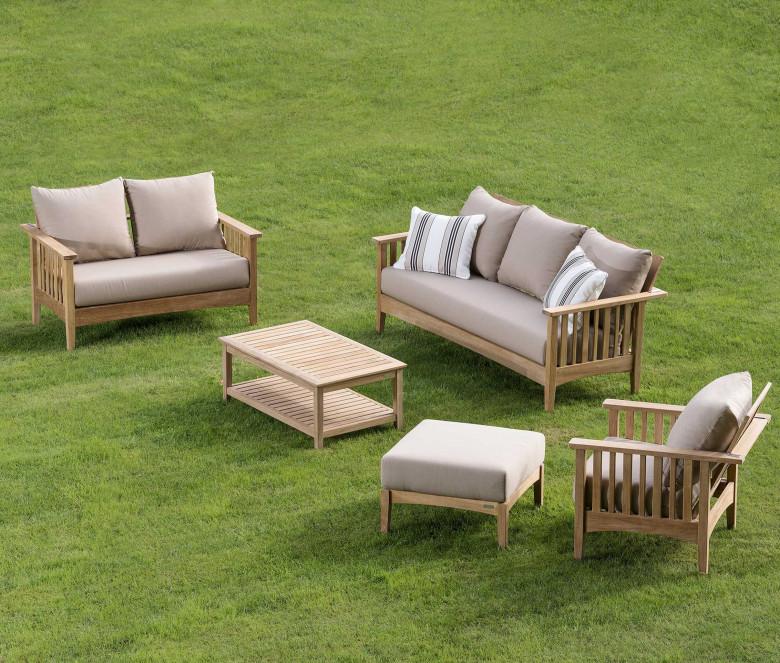 Sofa 2 seats in teak - Goa