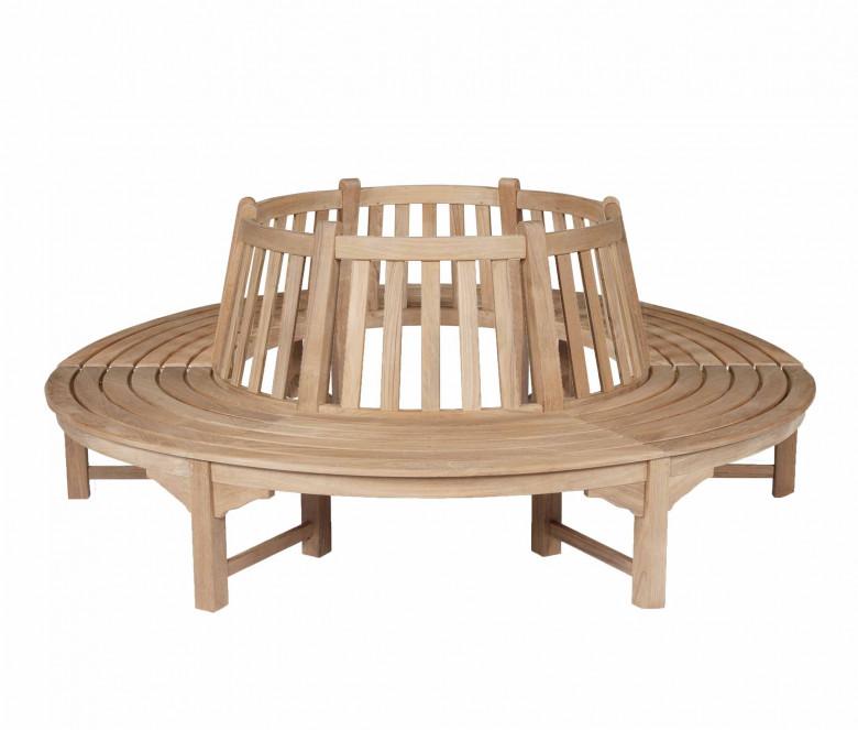 Teak semi-circular bench