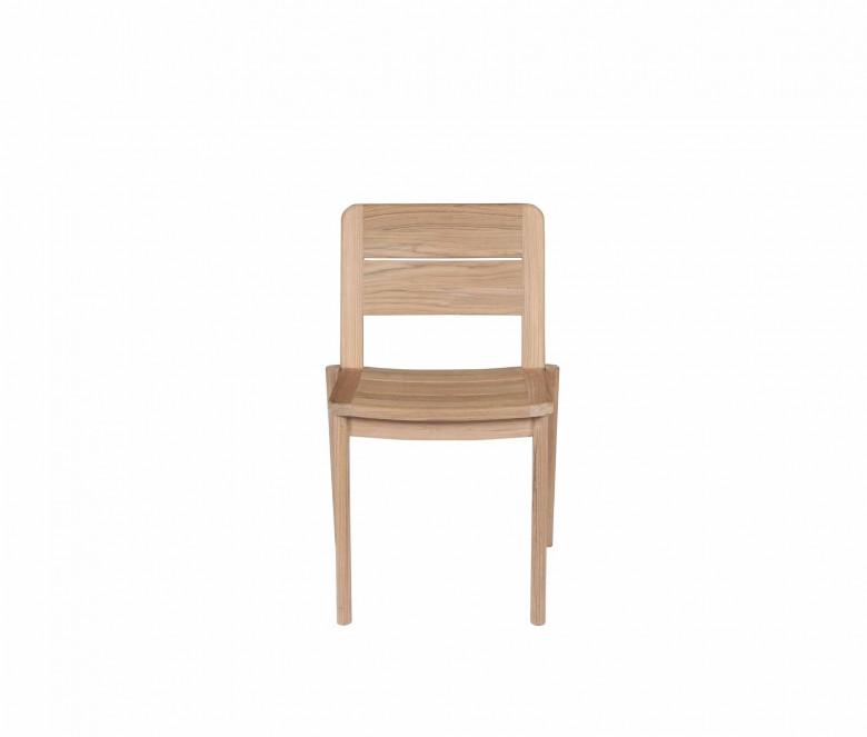 Teak stackable chair