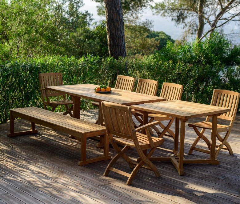 Rectangular teak table