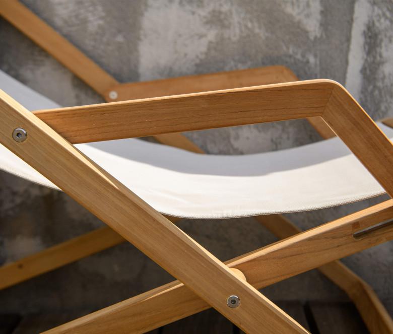 Ecru Batyline Deckchair