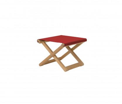 Red folding footrest