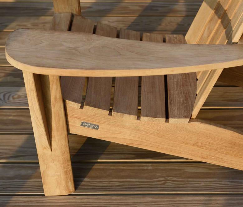 Teak armchair and footrest