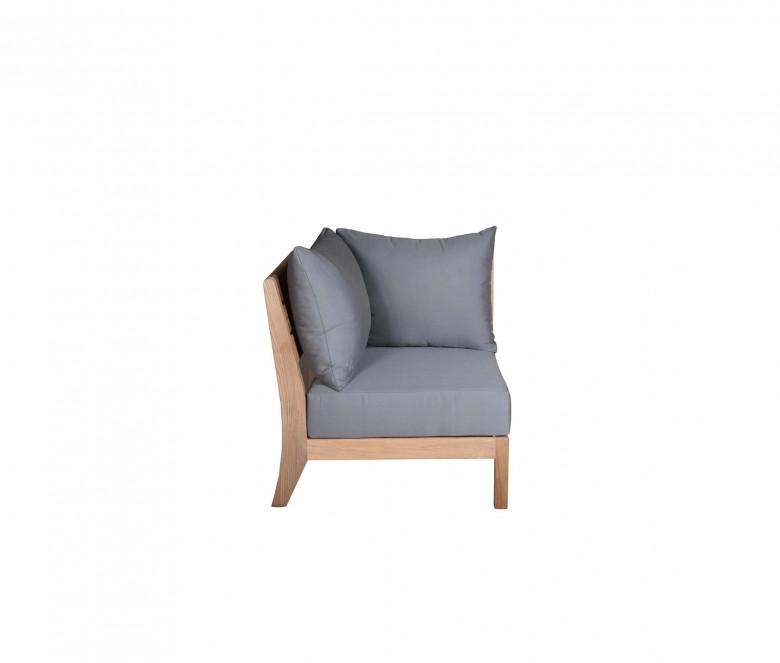 Modular corner unit - Exeter - Slate Grey Sunbrella