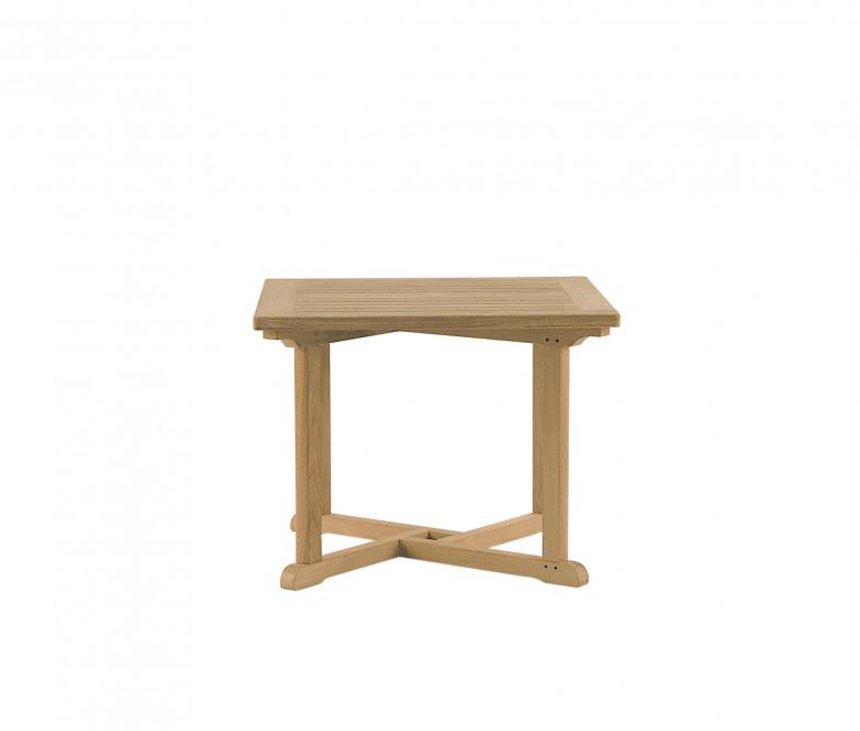 Square teak table
