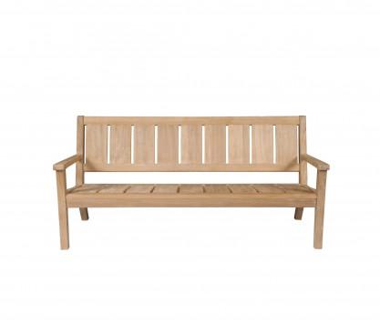 3-seat teak low bench