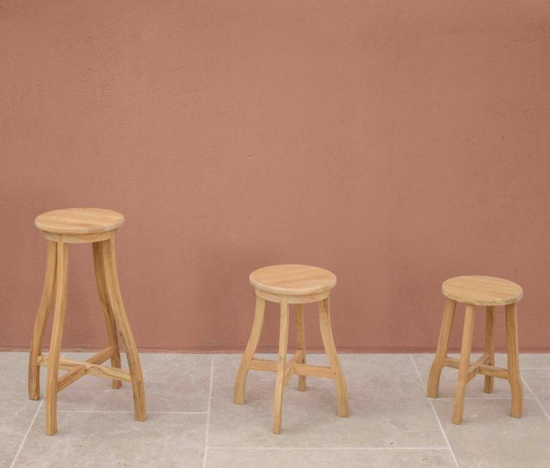 Teak stool - Exeter