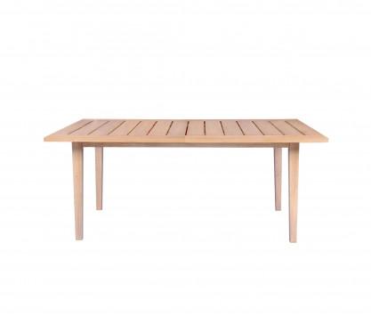 Extendable rectangular teak table