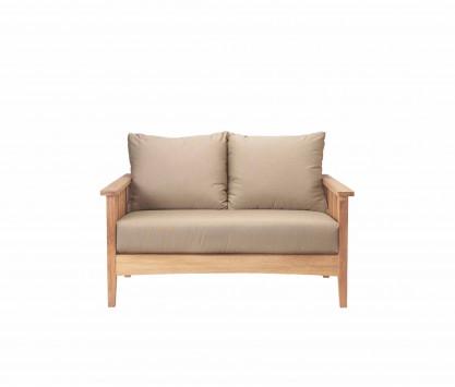 Teak 2-seat sofa