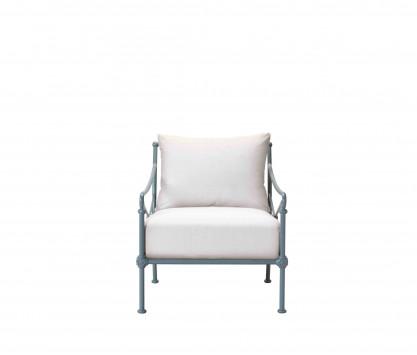 Aluminum low Armchair - BLUE