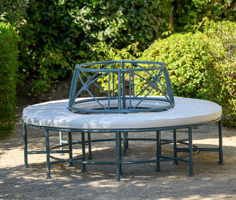 Semi-Circle bench 1800 Blue-grey