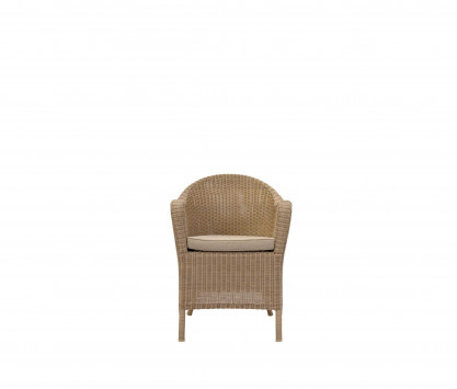 Woven resin studio armchair