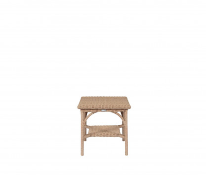 Woven resin side table
