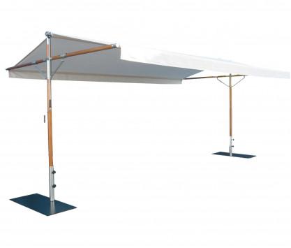 Varnished wood tent