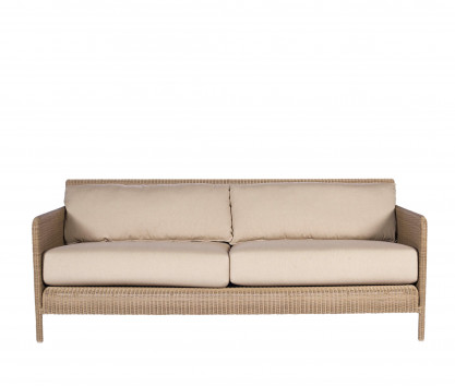 Woven resin 3-seater sofa