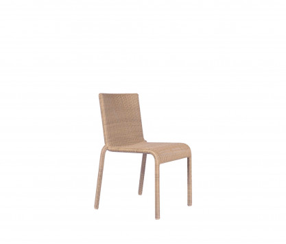 Woven resin stackable chair
