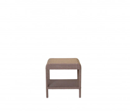 Woven resin square side table