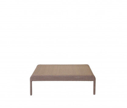 Woven resin low square table