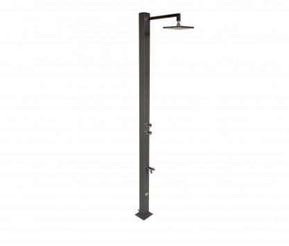 Shower + square showerhead Ø 20 cm