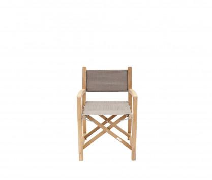 Eden taupe folding armchair