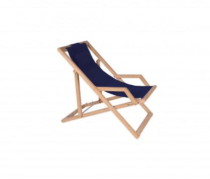 Navy blue Sunbrella deckchair
