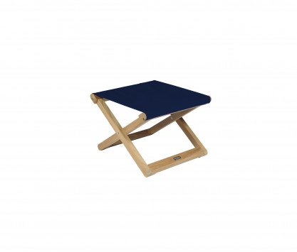 Navy blue folding footrest