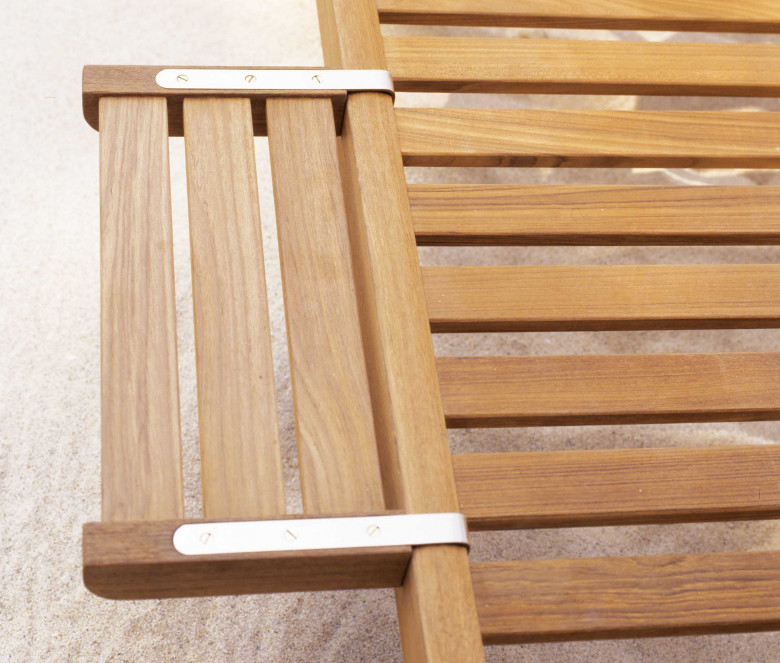Teak sun lounger tray