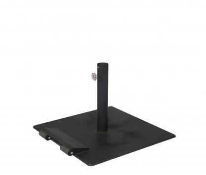 Steel parasol base 35 kg - with castors
