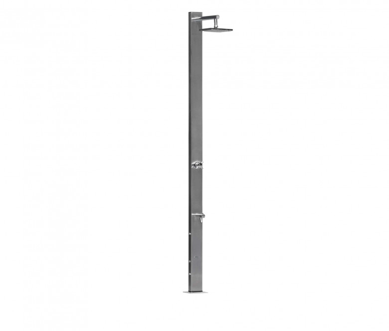 Shower with mixer + square showerhead Ø 20 cm