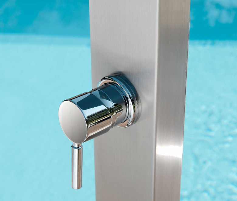 Shower with mixer + square showerhead Ø 25 cm