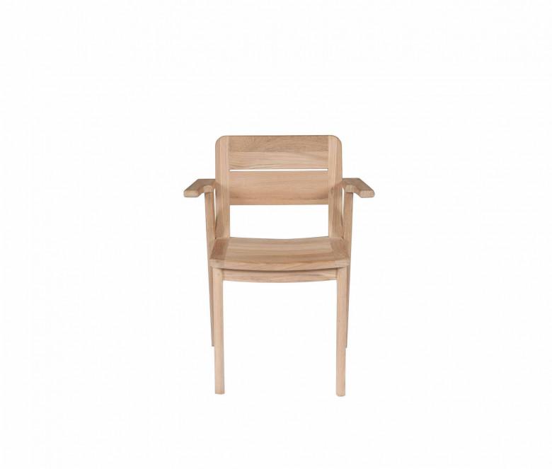 Teak stackable armchair