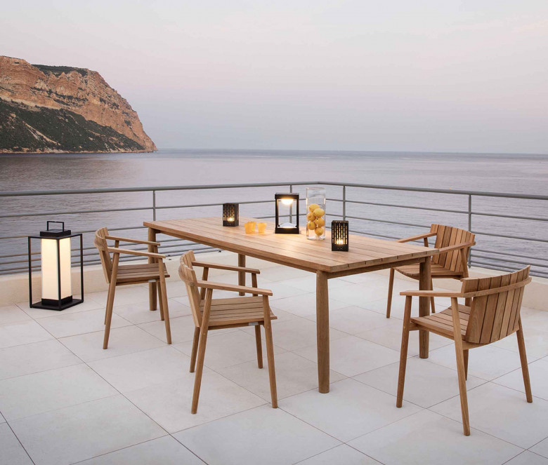Teak rectangular table