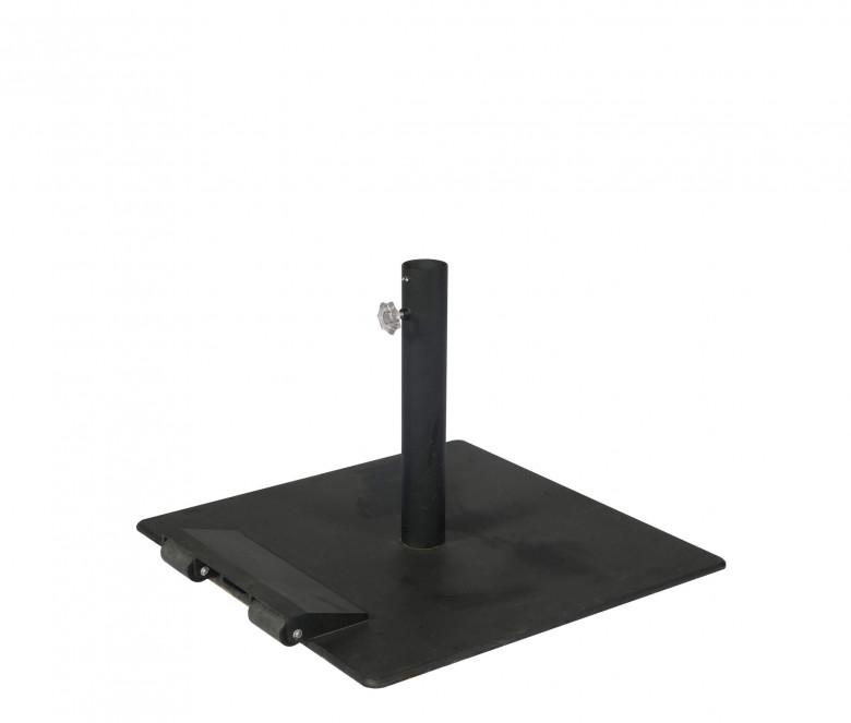 Steel base for parasol 45 kg - with castors
