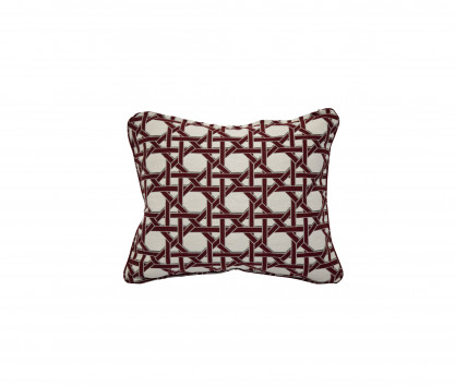 Back rest cushion - Red Coral cane pattern