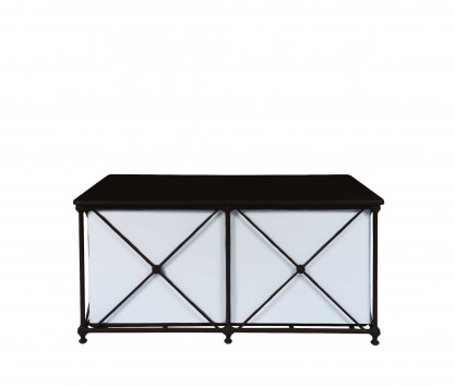 Aluminum rectangular chest - BLACK