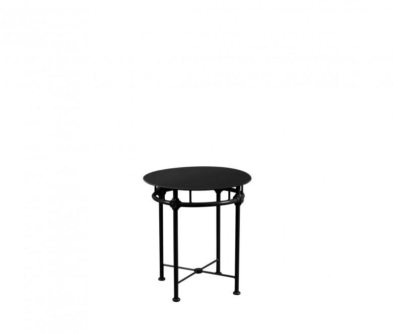 Aluminum gueridon table Ø 60 cm - BLACK