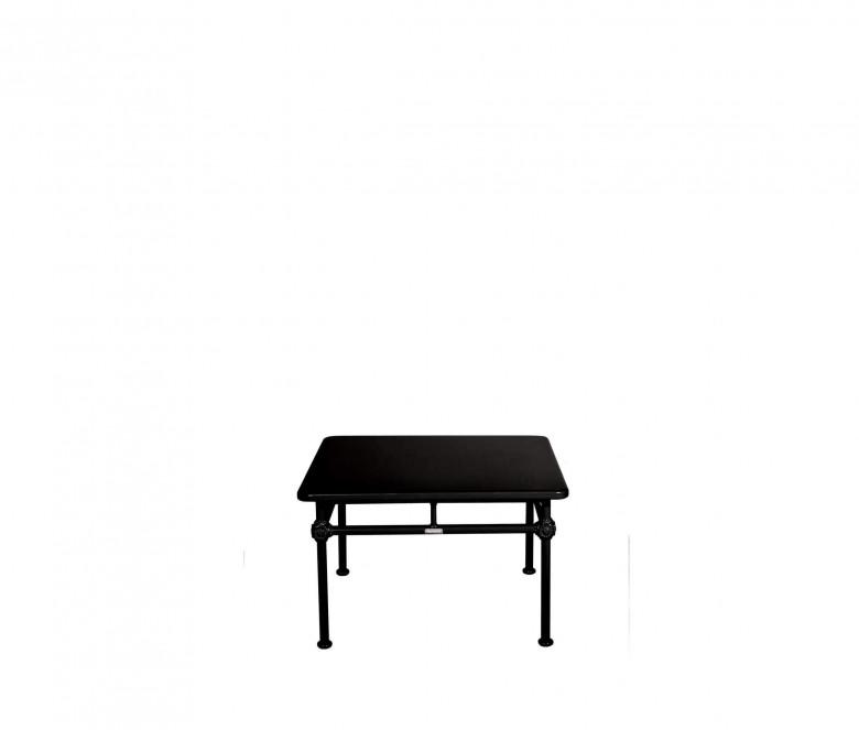 Aluminum square coffee table - BLACK