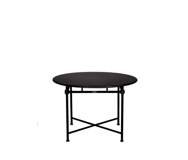 Aluminum round table Ø 110 cm - BLACK