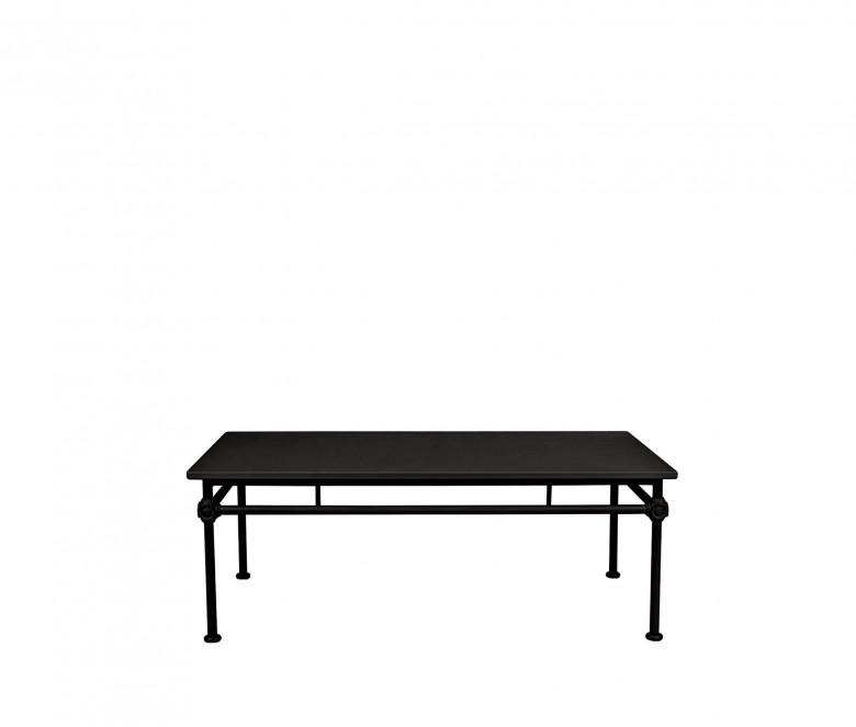 Aluminum rectangular coffee table - BLACK