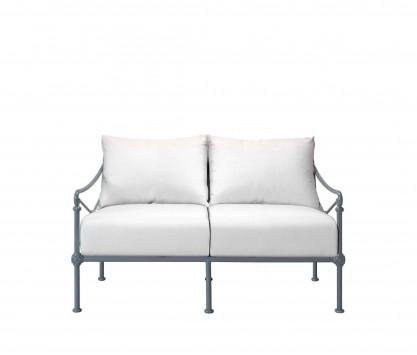 Aluminum two-seater sofa - BLUE