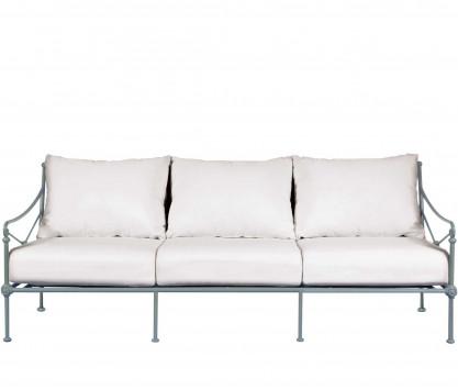 Aluminum three-seater sofa - BLUE