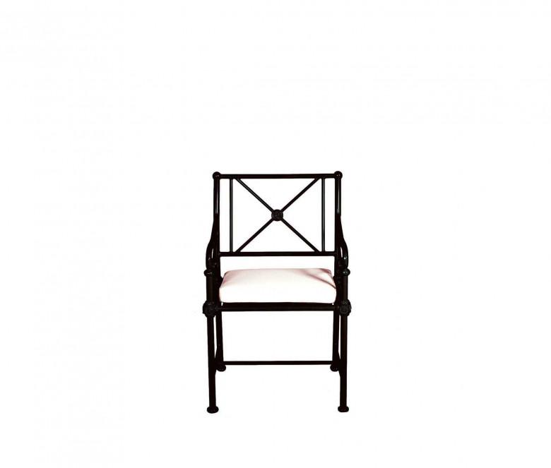 Aluminum armchair - BLACK