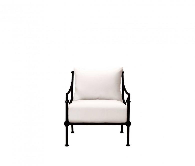 Aluminum low Armchair - BLACK