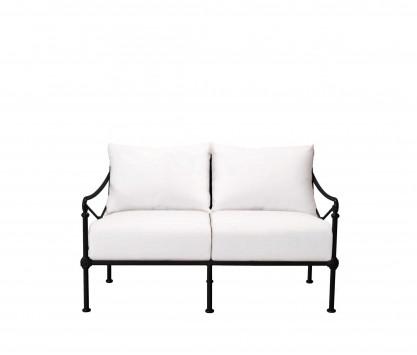 Aluminum two-seater sofa - BLACK