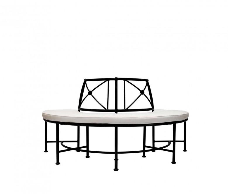 Aluminum semi-circle bench - BLACK