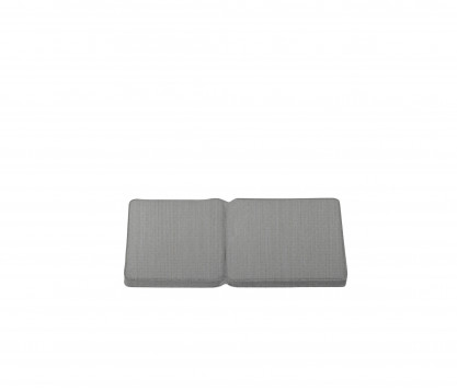 Seat and back rest cushion taupe