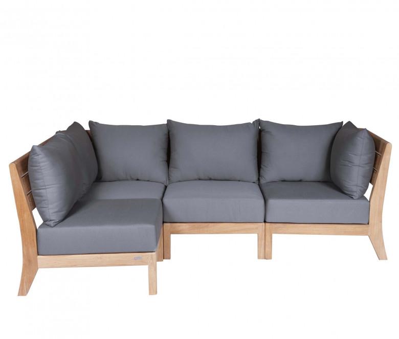 Canapé de ángulo modulable - Exeter - Sunbrella Gris Pizarra