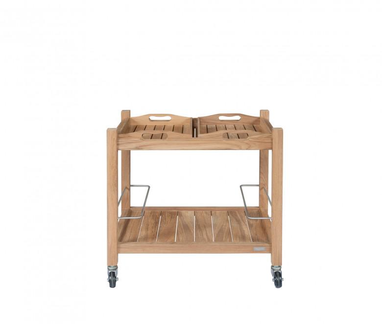 Mesa con ruedas de teca