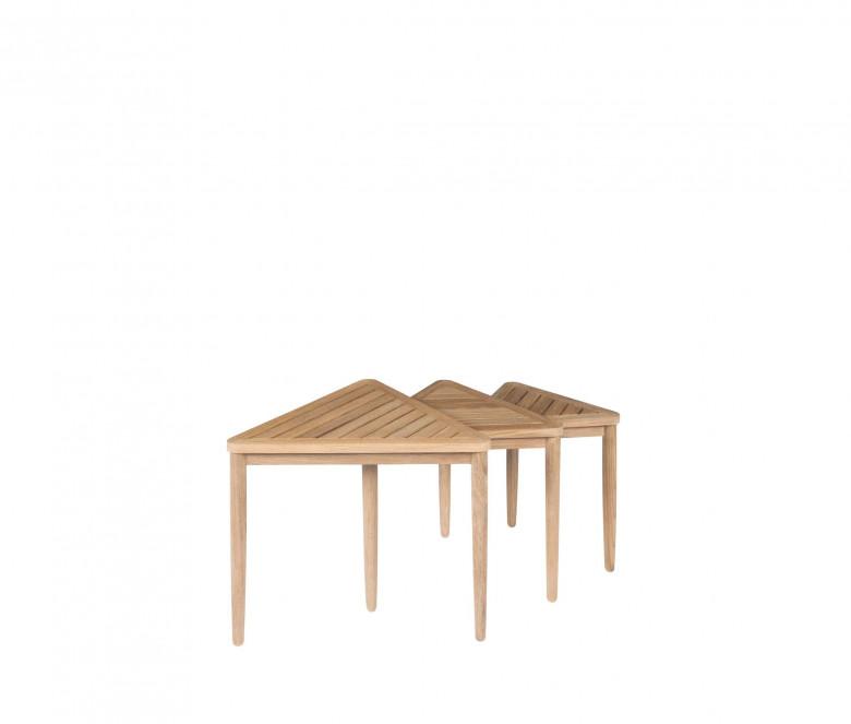 Mesa baja en teca (set de 3)