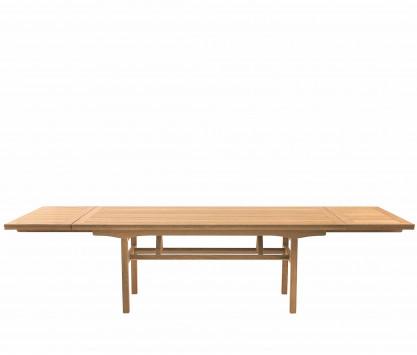 Mesa plegable con extensiones de teca